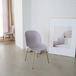 [모아이] 헤르만 카페 마카롱 디자인 골드스틸 의자(착불)