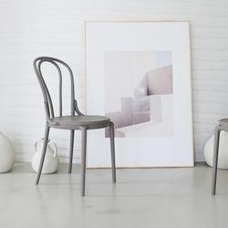 [모아이] 헤르만 카페 곡목 디자인 의자(착불)