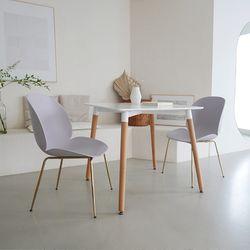 [모아이]헤르만 카페 마카롱 디자인 골드스틸 의자(2EA)(착불)