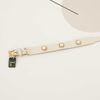Soft Pearl Collar M size white
