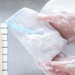 실속형 4중 매쉬 비누 거품망 1개(색상랜덤)