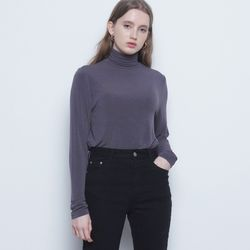 W323 layered polar tee charcoal