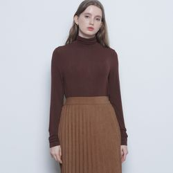 W323 layered polar tee brown