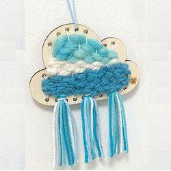 미니 위빙 만들기 - 구름 1개