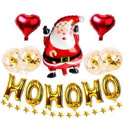 (인디고샵)호호호 산타 크리스마스 파티용품세트