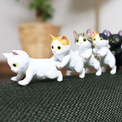 밀어주냥 고양이 피규어 모형 5종세트