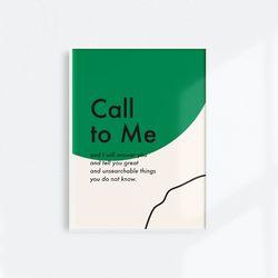 [메시지포스터] Call to Me