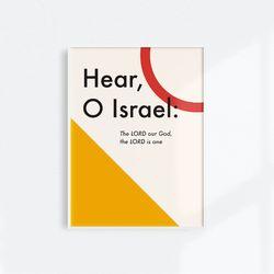 [메시지포스터] Hear O Israel