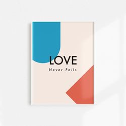 [메시지포스터] Love never fails