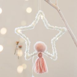 DIY 포근한 크리스마스 드림캐쳐(별-핑크)-소