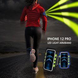 아이폰12 PRO 야간등산 LED발광 스마트폰 안전 암밴드