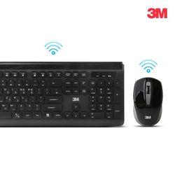 3M 무소음 무선 키보드마우스 세트 MK-150 블랙