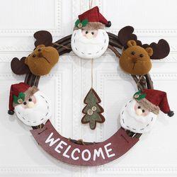 크리스마스 리스 D형 매장 카페 홈 인테리어 어린이집