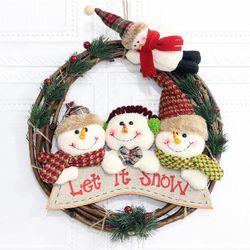 크리스마스 리스 B형 매장 카페 홈 인테리어 어린이집