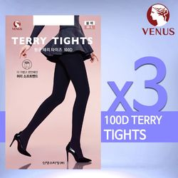 비너스 VST8781 100D 항균 테리 보온 타이즈 (3매)