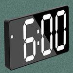 낮에도 선명 큼직 숫자 디지털 탁상 시계 온도 달력