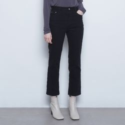 W425 warm straight pants black