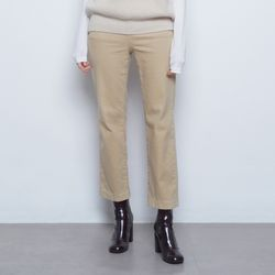W425 warm straight pants beige