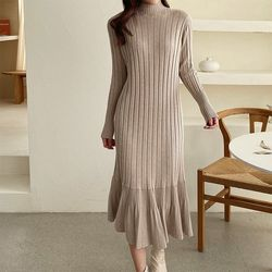 Golgi Turtle Flare Long Dress
