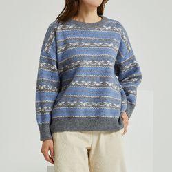 문양배색 스웨터 DAKL20N57