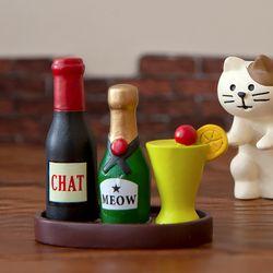 데꼴 2020 고양이 BAR 피규어 와인세트
