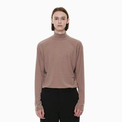 URBAN HALF NECK T-SHIRTS BROWN