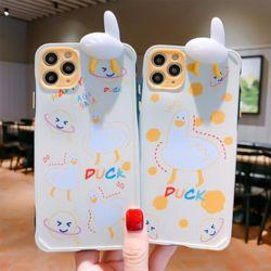 아이폰11 PRO SE2 XS 8 XR 입체 오리 실리콘 케이스