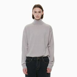 STANDARD TURTLENECK KNIT BEIGE GREY