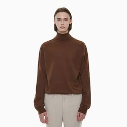 STANDARD TURTLENECK KNIT BROWN