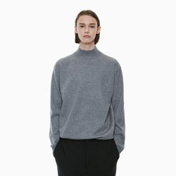 STANDARD HALF NECK KNIT GREY
