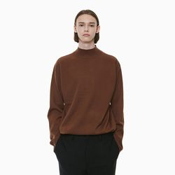 STANDARD HALF NECK KNIT BROWN