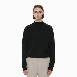 STANDARD HALF NECK KNIT BLACK