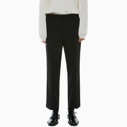SLIT STRAIGHT SLACKS BLACK