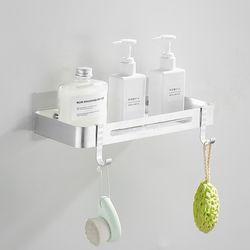 프리미엄 무타공 화장실 욕실선반 일자형 1단