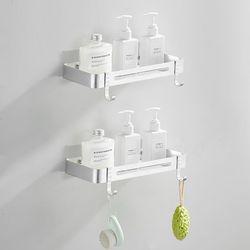 프리미엄 무타공 화장실 욕실선반 일자형 2단