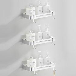 프리미엄 무타공 화장실 욕실선반 일자형 3단