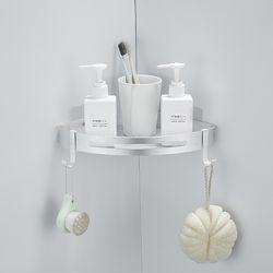프리미엄 무타공 화장실 욕실선반 코너형 1단