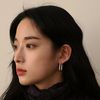 SILVER ROUND EARRING (원터치)