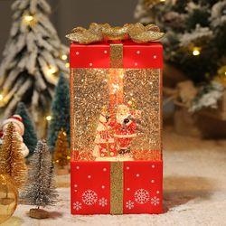선물상자 산타 스노우볼 오르골 무드등 워터볼 조명