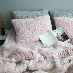 양털 극세사이불(핑크)-싱글SS기본세트