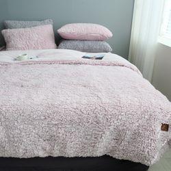 양털 극세사이불(핑크)-퀸풀세트