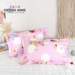 [디자인엔] 순면 앙팡 아동솜베개-핑크