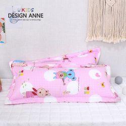 [디자인엔] 순면 앙팡 아동솜베개30x70-핑크