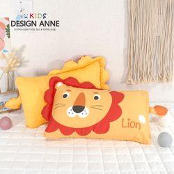 [디자인엔] 순면 사자 아동솜베개