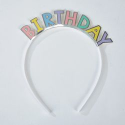 RAINBOW 파스텔 생일머리띠 5개세트