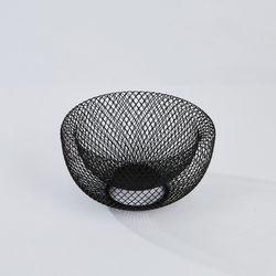 블랙 더블 레이어 매쉬 바스켓 S