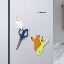 주방 욕실 후크 끈적임 없는 애니멀후크 2개 1set