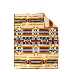 기모처리 안된 자카드 블랭킷 로브 담요 새들 마운틴
