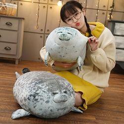 하프 물범 물개 바다표범 쿠션 모찌 인형 40cm