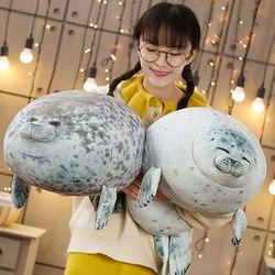 하프 물범 물개 바다표범 쿠션 모찌 인형 60cm